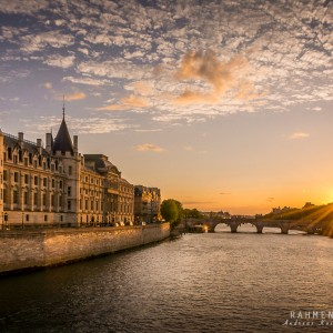 Sonnenuntergang an der Seine