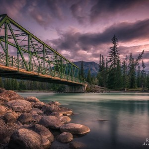 Old Fort Point Bridge, Jasper Nationalpark
