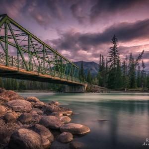 Old Fort Point Bridge, Jasper Nationalpark